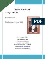 The Spiritual Basis of Satyagraha