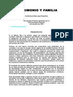 MATRIMONIO Y FAMILIA_Conferencia Episcopal Española