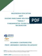 Fundamentos t Recreación  w Huizar