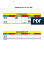 Jadwal Mengajar Semester Genap 2016