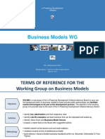 Presentation of the WG on Business Models