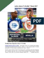 Prediksi Deportivo Alaves vs Sevilla 7 Maret 2017