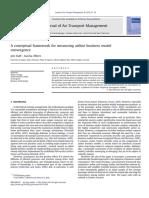 Journal of Air Transport Management Volume 28 issue 2013 [doi 10.1016_j.jairtraman.2012.12.010] Daft, Jost; Albers, Sascha -- A conceptual framework for measuring airline business model converge.pdf