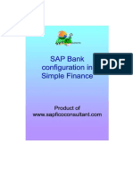 Bank Configuration Hana