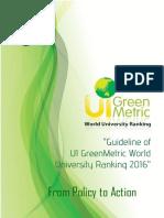 UI Greenmetric Guideline 2016