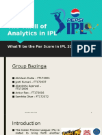 The Thrill of Analytics in IPL