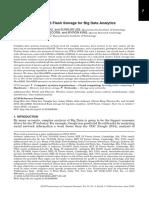 Distributed Flash Storage for Big Data Analytics