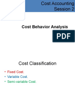 Cost Behavior Analysis-CostAcct