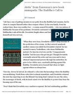 """the Story of Devadatta"" From Easwaran's New Book Essence of the Dhammapada"