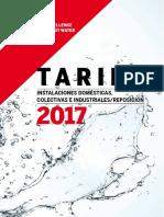 Tarifa ACV 2017