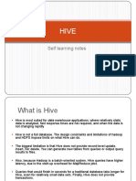 Hive - Self Learning Notes