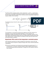Control Loop Response to Setpoint Change With PID Control