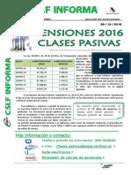Csif Informa_ Pensiones 2016 Clases Pasivas