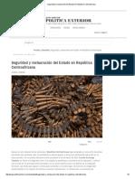 Seguridad y restauración del Estado en República Centroafricana