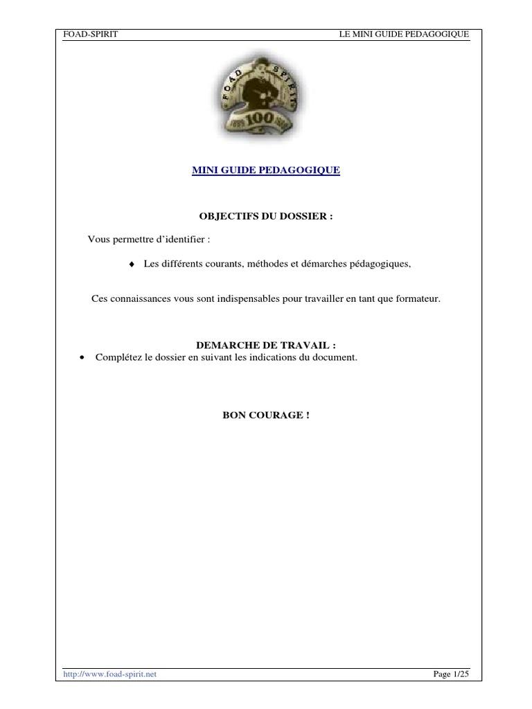 Guide sur les courants pédagogiques pdf
