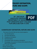 Climatology-nature, Defination and Scope