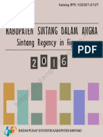 Kabupaten Sintang Dalam Angka Tahun 2016