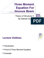 5 - Three Moment Equation for Continuous Beam (1)