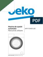 Manual Utilizare Beko WMY 61483 LB2