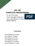Computer Programming Week1