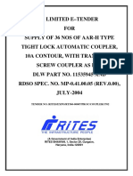 Tender for Supplying Coupler