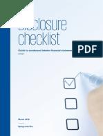 Interim Disclosure Checklist 2016 March