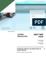 Nbr 14039 2005 Instalacoes Eletricas de Media Tensao de 1 0 Kv a 36 2 Kv Comentada
