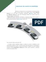ESP - sistemul electronic de control al stabilității automobilului.doc