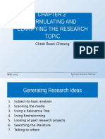 Chapter 2 Formulating and Clarifying the Research Topic Edited