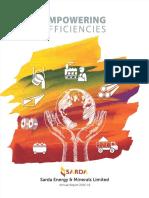 Shardat Energie Annual Report 2015-2016