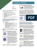 Contraceptive Choices Factsheet