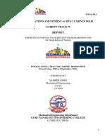 Sonalika training report for Guru Nanak Dev Engineering College