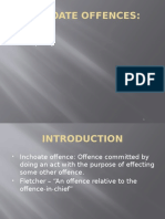 Inchoate Offences Attempt
