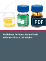 Guidelines for Operation on Fuels With Less Than 0 1 Sulphur