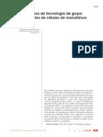 Algoritmos de Tecnologia de Grupo Para Projetos de Células de Manufatura