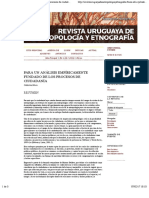 NEVEU Para un análisis empíricamente fundado de los procesos de ciudadanía | Neveu | Revista Uruguaya de Antropología y Etnografía