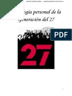 Antología Personal de La Generación Del 27