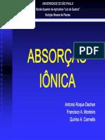 Absorcao Ionica-Roque Et Al-Esalq