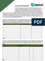 Solar Assessment Worksheet