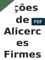 Lições de Alicerces Firmes - CAPA