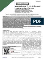 Laparoscopic Transperitoneal Ureterolithotomy- An Alternative to Open Surgery