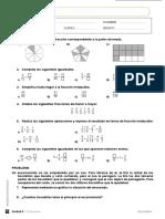 examen fracciones 1eso