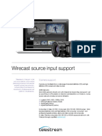 Wirecast Source Input Support