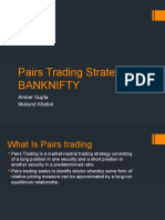 Pairs Trading Strategy for BANKNIFTY (1)