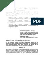 T-265-14 Acción de Tuetela Contra Providencia Judicial