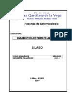 Silabo de Estadistica-estomatologica
