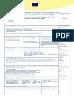 Form C 1 - Antragsformular Schengenvisum