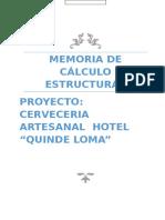 Memoria Tecnica Hotel Quinde Loma