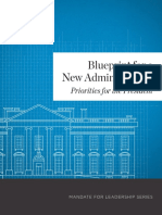 Blueprint for a New Administration
