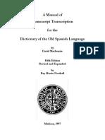 Mannual de Transcripción Manuscrita